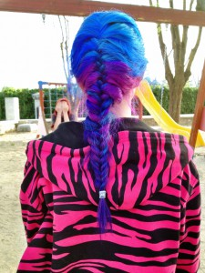 Blue and purple Braid